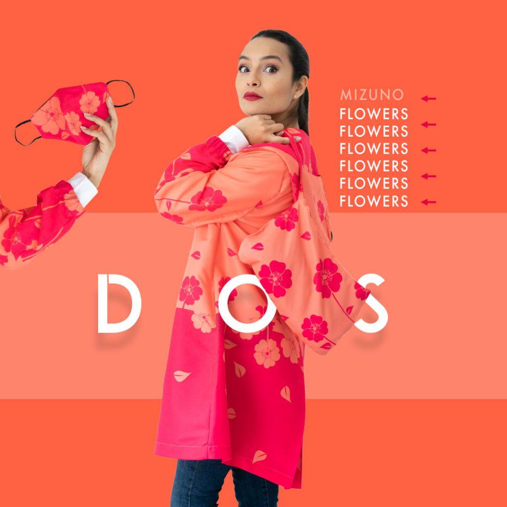 Vístete de felicidad, gabardina estampado floral tela antifluido