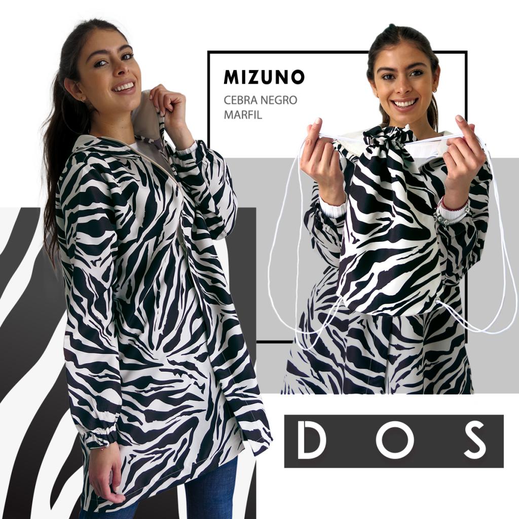 Vístete de felicidad Abrigo en estampado Zebra